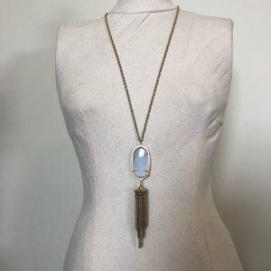 Kendra Scott Gold 'Rayne' Necklace Silver Stone